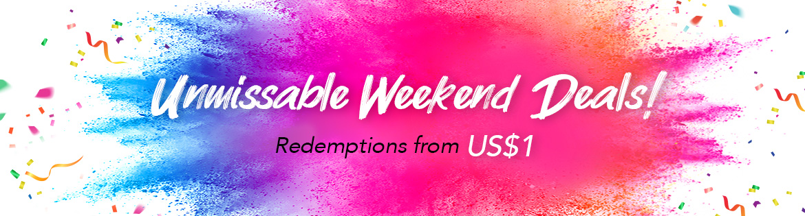Crazy Weekend Specials, Ends 26 May 2019. Redeem Great Products from US$1 (min. spend US$65)