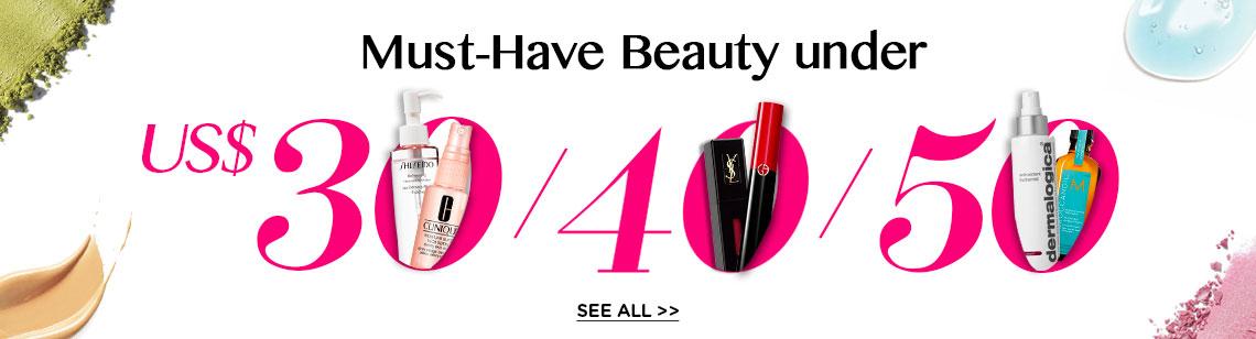 Budget Beauty Essentials: Under US$30 | US$40 | US$50