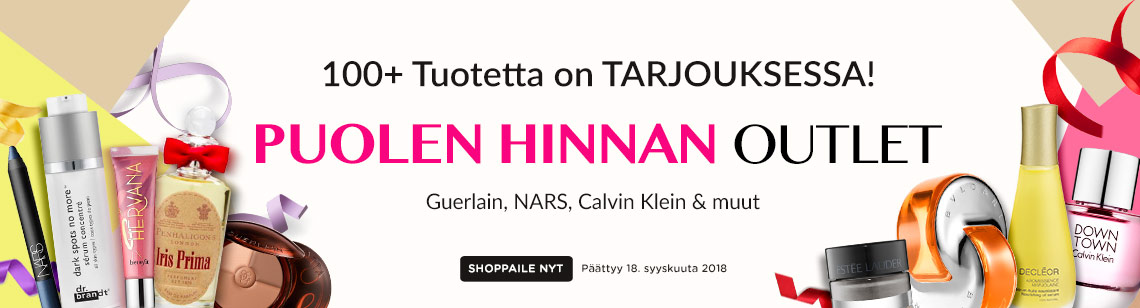 Half Price Outlet Sale! Decleor, Guerlain & Estee Lauder. Ends 18 Sep 2018