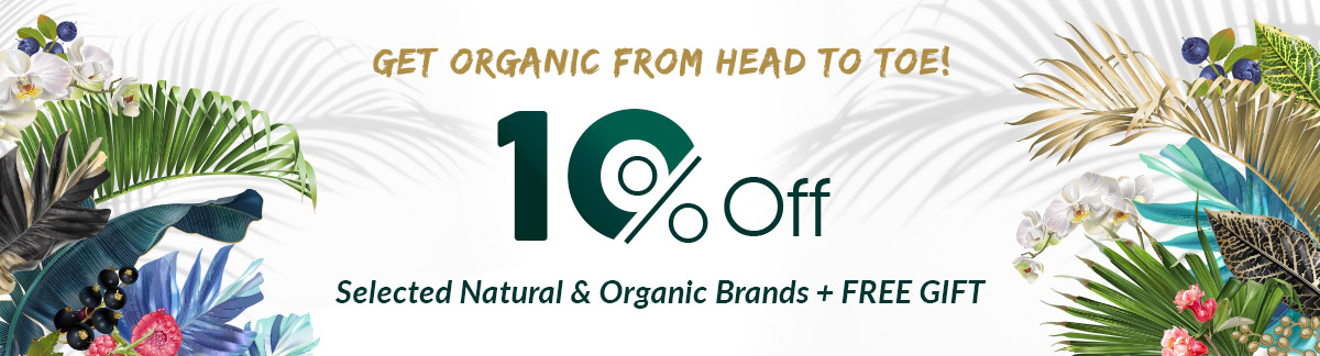 Need a Reason to Go Green? Enjoy 10% Off All Natural & Organic Brands!