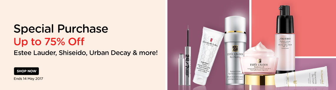 special beauty purchase up to 75% off estee lauder shiseido urban decay  skincare day cream eyeliner serum