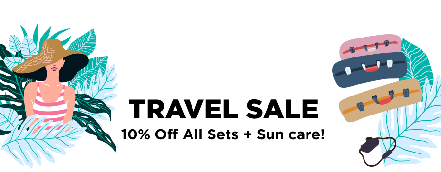 HOLIDAY TRAVEL SALE: 10% Off All Sets + SPF!