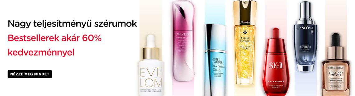 Serums Powerful high performance bestsellers Kiehl's Skin Ceuticals Eve Lom Shiseido Estee Lauder SKII Guerlain Lancome Bare Minerals