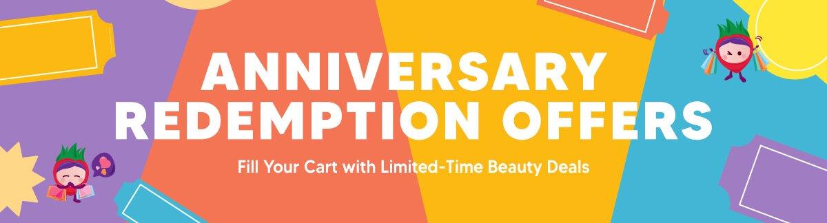anniversary sale, deals, redemption, US$1 deals, weekend shopping, shiseido, clarins, 3w clinic, clinique, fresh