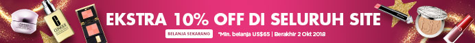 THE BIG SALE: Extra 10% Off Everything! *Min. spend US$65   Ends 2 Oct 2018