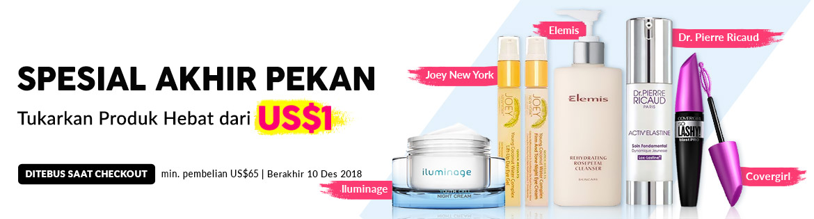 Weekend Specials, Ends 10 Dec 2018. Redeem Great Products from US$1 (min. spend US$65)