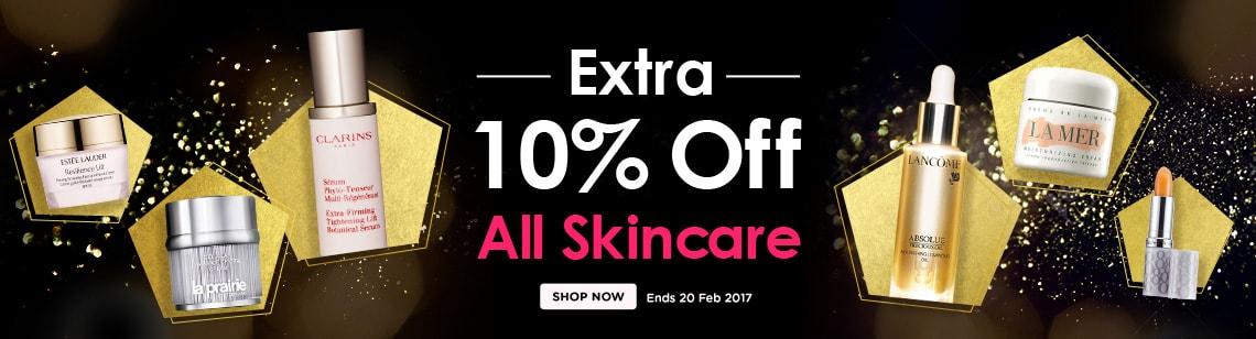extra ten percent off skincare