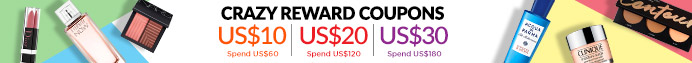Bonus Shopping Rewards: Spend US$60 & Get a US$10 Coupon | Spend US$120 & Get a US$20 Coupon | Spend US$180 & Get a US$30 Coupon! Ends 23 Apr 2019