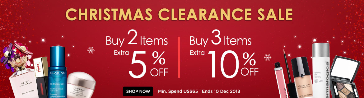 Christmas Clearance Sale! Any 2 Items = Extra 5% Off | Any 3 Items or More = Extra 10% Off! Ends 10 Dec 2018