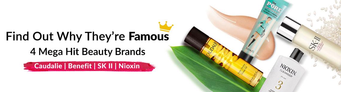 Caudalie Benefit SKII SK II Nioxin Haircare Skincare Makeup Rose Tint Benetint polyphenols Grape Pitera Bald System 3