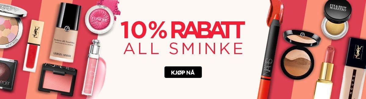 10 % RABATT PÅ ALL SMINKE