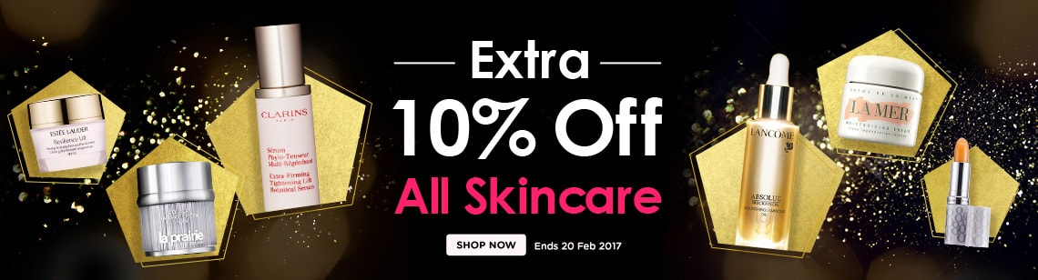 extra ten percent off skincare