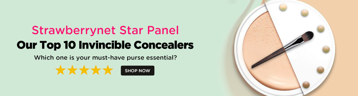 Strawberrynet Star Panel: Our Top 10 Invincible Concealers. Which One is Your Must-Have Purse Essential?