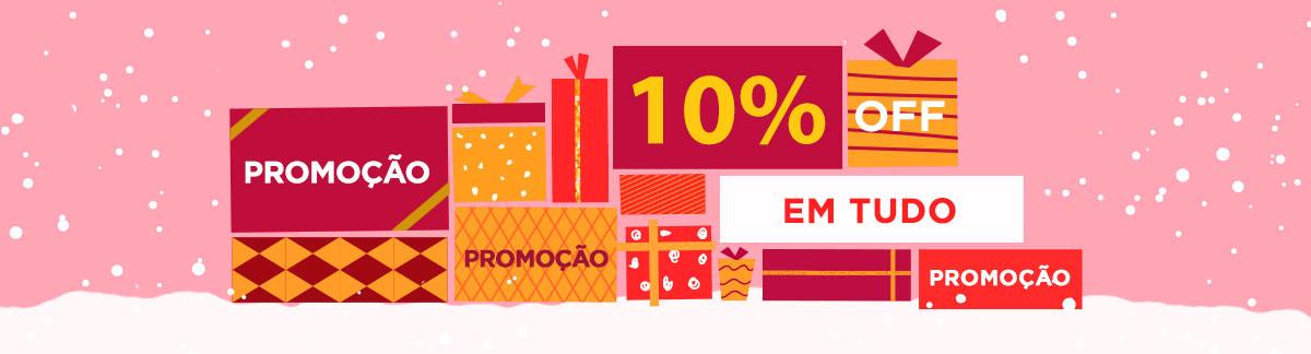 Promoção de Última Hora para as Festas com 10% de desconto em Todo o Site! Natal, Ano Novo, Hanukkah e Boxing Day