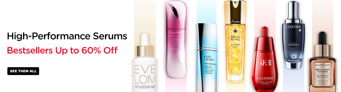 Serums Powerful high performance bestsellers Kiehl's Skin Ceuticals Eve Lom Shiseido Estee Lauder SKII Guerlain Lancome Bare Minerals
