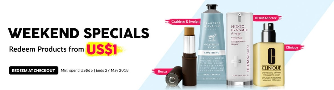 weekend deal becca crabtree & evelyn dermadoctor clinique
