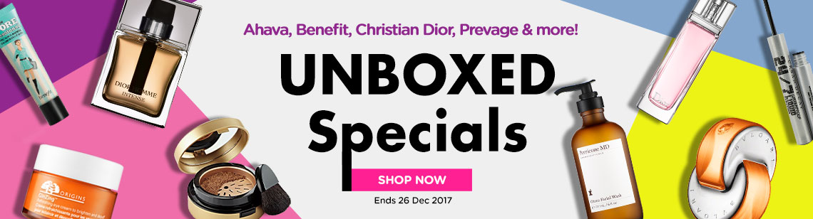 unboxed specials benefit porefessional origins ginzing perricone md bvlgari perfume dior jadore urban decay eyeliner fior homme intense