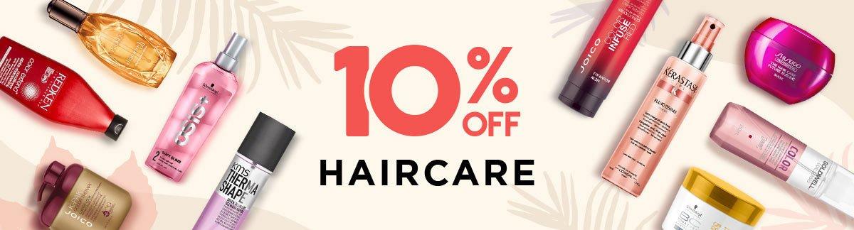 Скидка 10% на все средства для волос