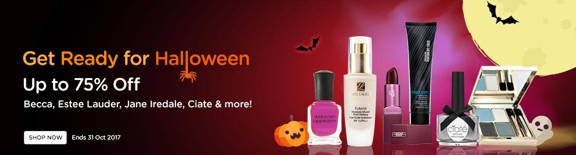 get ready for halloween makeup clarins quartet mineral pallete becca powder ciate nail polish cheeky nail polish