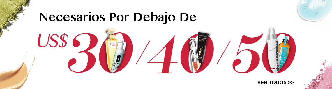 Shop beauty products under US$30 | US$40 | US$50 Elizabeth Arden perfume clinique skincare YSL makeup Christian dior lipsticks dermalogica moroccanoil