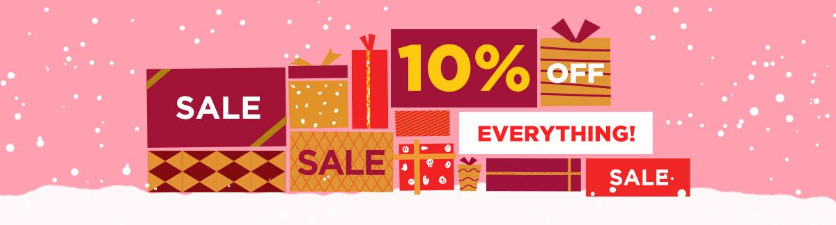 Oferta de Navidad de Último Minuto 10% Dto. en todo! Navidad Hanukkah Año Nuevo El Día Después de Navidad