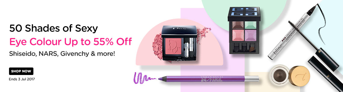 50 Shades of Sexy: Eye Colour Up to 55% Off! Shiseido, NARS, Givenchy & more! Ends 03 Jul 2017