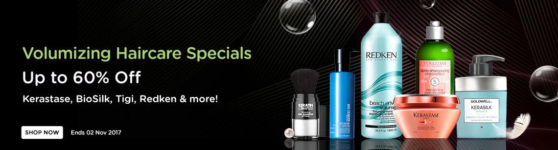 Volumizing Haircare Specials salon brands kerastase loccitane redken goldwill shu uemura