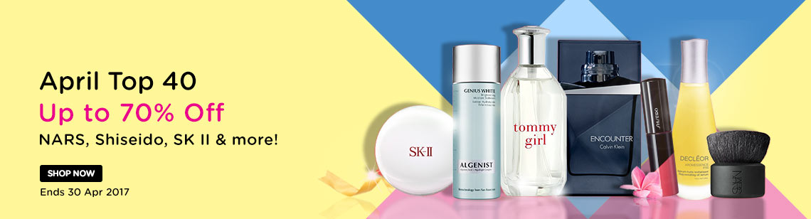 April Top 40 Up to 70% Off Borghese, Decleor, NARS & more!