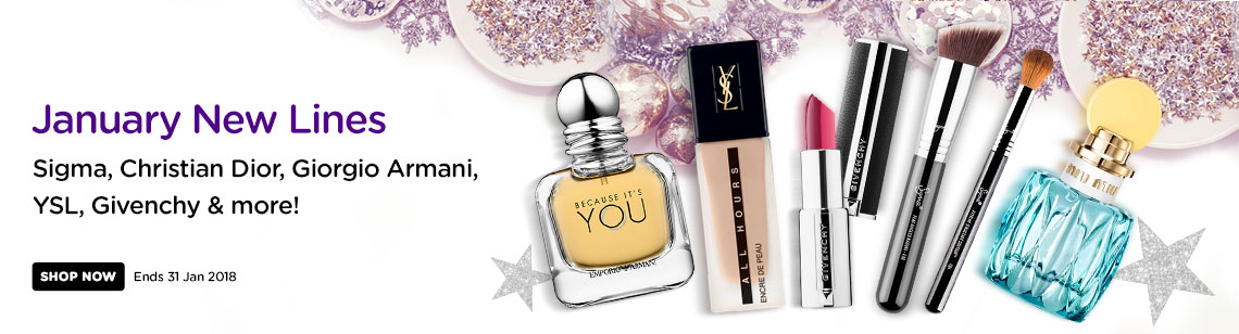 january new lines ysl foundation givenchy two tone lipstick sigma brush miu miu perfume emporio armani because it's you