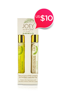 Joey New York Quick Results Young Coconut Water Complex Gel and Night Cream Eye Duo