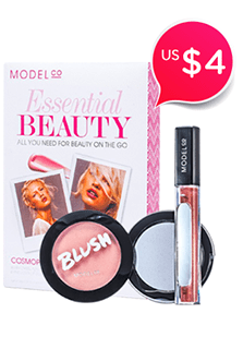 Essential Beauty (1x Blush em Pó, 1x Gloss Labial Ultra Brilho) - #Amaretto Sunset - #Cosmopolitan