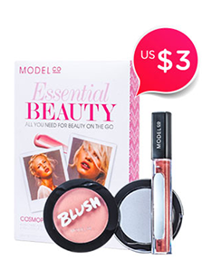 ModelCo Essential Beauty (1x Blush Cheek Powder, 1x Shine Ultra Lip Gloss) - # Amaretto Sunset - # Cosmopolitan