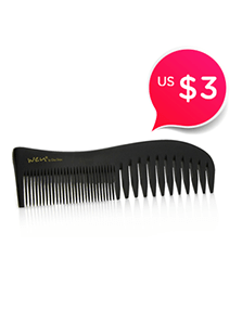 Saw-Cut Wide Tooth Shower Comb1pc