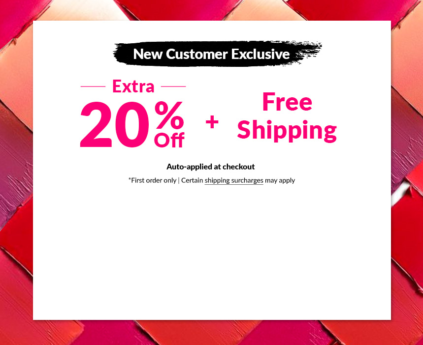 New Customer Exclusive Shop Beauty Sale Extra 20% Free Shipping bareminerals biotherm bvlgari calvin klein christian dior clarins clinique decleor dermalogica l'oreal l'occitane nars payot redken yves saint laurent makeup skincare perfume haircare