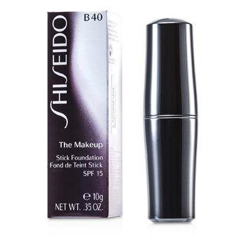Shiseido The Makeup Stick Foundation SPF 15 - B40 Natural Fair Beige  10g/0.35oz