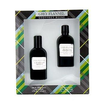 Geoffrey Beene Grey Flannel Estuche : Agua de Colonia Vaporizador 120ml + Loci�n despu�s del Afeitado 120ml  2pcs