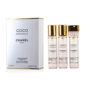 Coco Mademoiselle Twist  & Agua de Colonia en Spray Recambio 3x20ml/0.7oz