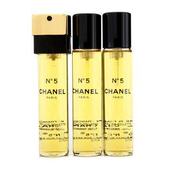 Chanel No.5 Тоалетна Вода Спрей за Дамска Чанта Пълнители  3x20ml/0.7oz