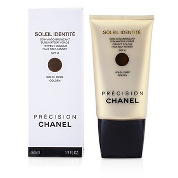 Chanel Precision Soleil Identite Perfect Colour Face Self Tanner/Auto Bronceador SPF8 - Dorado ( Oro  )  50ml/1.7oz