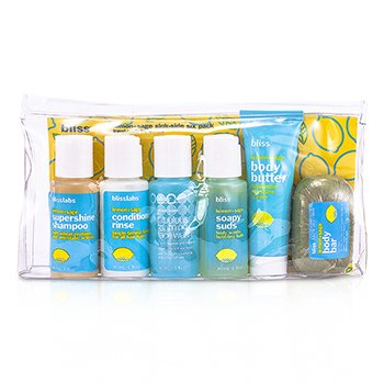 Bliss Set Lemon & Sage Sinkside Six: Manteca Corproal+Soapy Sap Gel+Champ�+Acondicionador+Jab�n Facial+Jab�n  6pcs+1bag