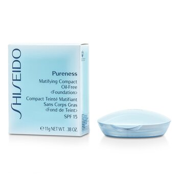 Shiseido Pureness Matifying Compact Oil Free Foundation SPF15 (Case + Refill) - # 20 Light Beige  11g/0.38oz