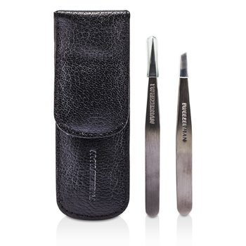 Petite Tweeze Set: Slant Tweezer + Point Tweezer  2pcs
