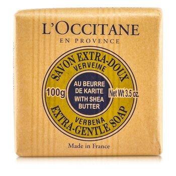 L'Occitane Cytrynowe mydło z masłem shea Shea Butter Extra Gentle Soap - Verbena  100g/3.5oz