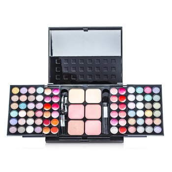Cameleon MakeUp Kit 396 (48x Eyeshadow, 24x Lip Color, 2x Pressed Powder, 4x Blusher, 5x Applicator)  -