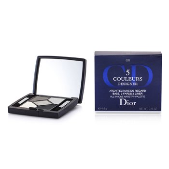 Christian Dior 5 Color Designer Paleta Artistry Todo En Una - No. 008 Smoky Design  4.4g/0.15oz