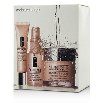 Moisture Surge Set: Cream 75ml + Eye Gel 15ml + Face Spray 30ml  3pcs