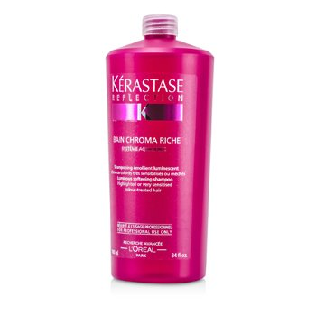 Shampoo Reflection Bain Chroma Riche Luminous Softening  (Cabelo Colorido e Sensibilizado)  1000ml/34oz