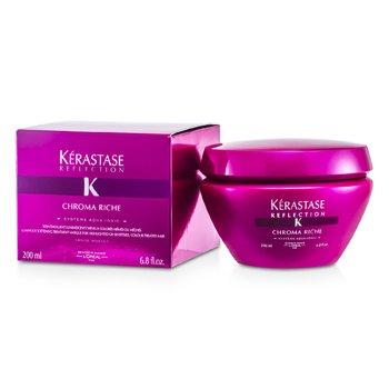 Kerastase Kerastase Reflection Chroma Riche Máscara Tratamiento Suavizante Luminosos (Para Cabello con Mechas o Sensibilizado, con Tratamiento de Color)  200ml/6.8oz