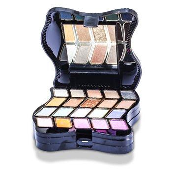 Kit de maquiagem Fashion  62201: 2x Pó+ 2x Blush+ 20x sombras+ 5x batons+ 3x aplicadores