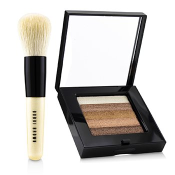 Bobbi Brown Set Bronce Brillante Teja: Compacto Brillo Teja + Mini Pincel Mezclador ( Edición Limitada )